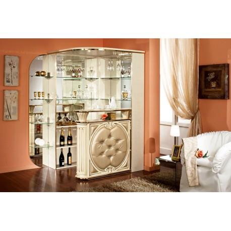 Tiffanie corner beige-gold-leathe-