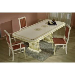 Rossella matbord & 6 stolar beige